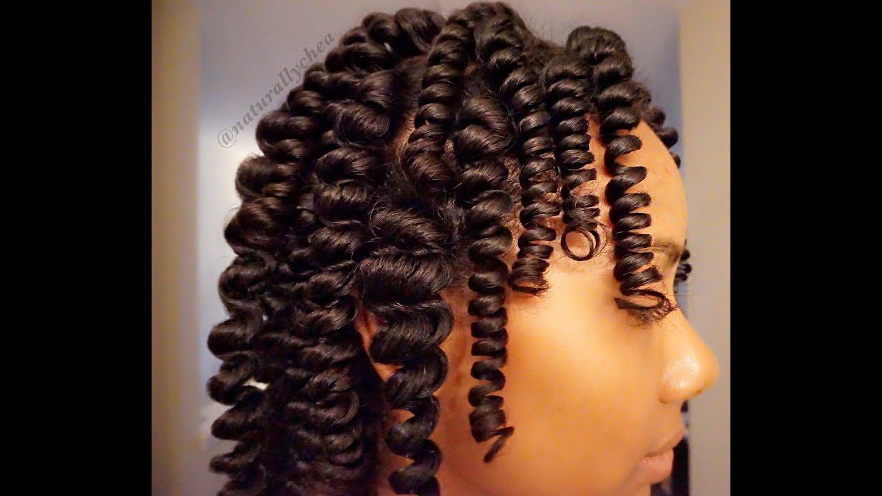 Heatless Coils Natural Hair Roller Set Youtube
