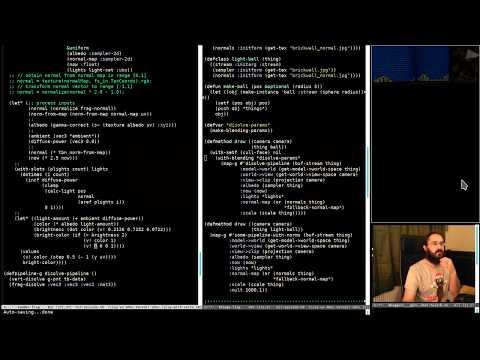 Pushing Pixels with Lisp - Episode 59 - Basic Disolve Shaders