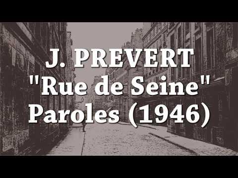 Jacques Prevert Rue De Seine Paroles 1946 Youtube