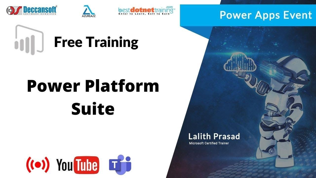 Microsoft Power Platform Overview - PowerApps, PowerBI,Power Automate,Power Virtual Agents