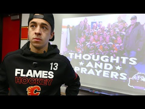 Calgary Flames react to news of Humboldt Broncos bus crash