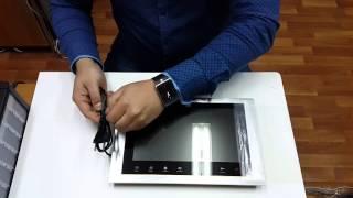 Обзор цветного видеодомофона с большим 10