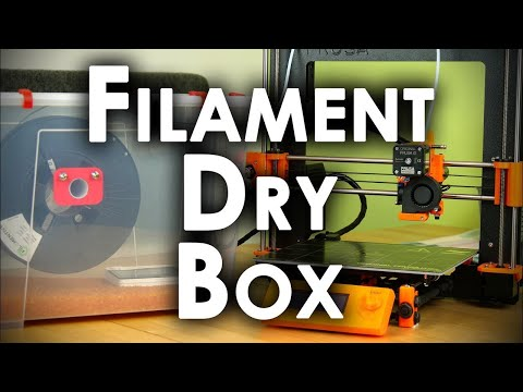 Filament Dry Box || How to properly store and 3D print Nylon, PC, TPU, PVA...