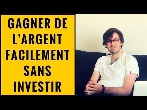 COMMENT GAGNER DE L'ARGENT FACILEMENT SUR INTERNET SANS INVESTIR ?