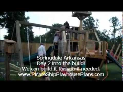 Wooden Ship Swing Set And Slide Building Plans Youtube