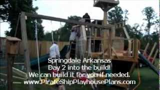 Wooden Ship Swing Set And Slide Building Plans