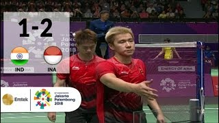 IDN vs INA - Badminton Beregu Putra: Full Highlights - Ganda Putra | Asian Games 2018