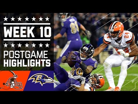 Browns vs. Ravens | NFL Week 10 Game Highlights