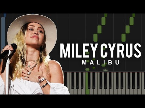 MILEY CYRUS - Malibu Piano Tutorial & Sheet Music