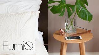 Furniqi - Bamboo Qi Wireless Charging Side Table
