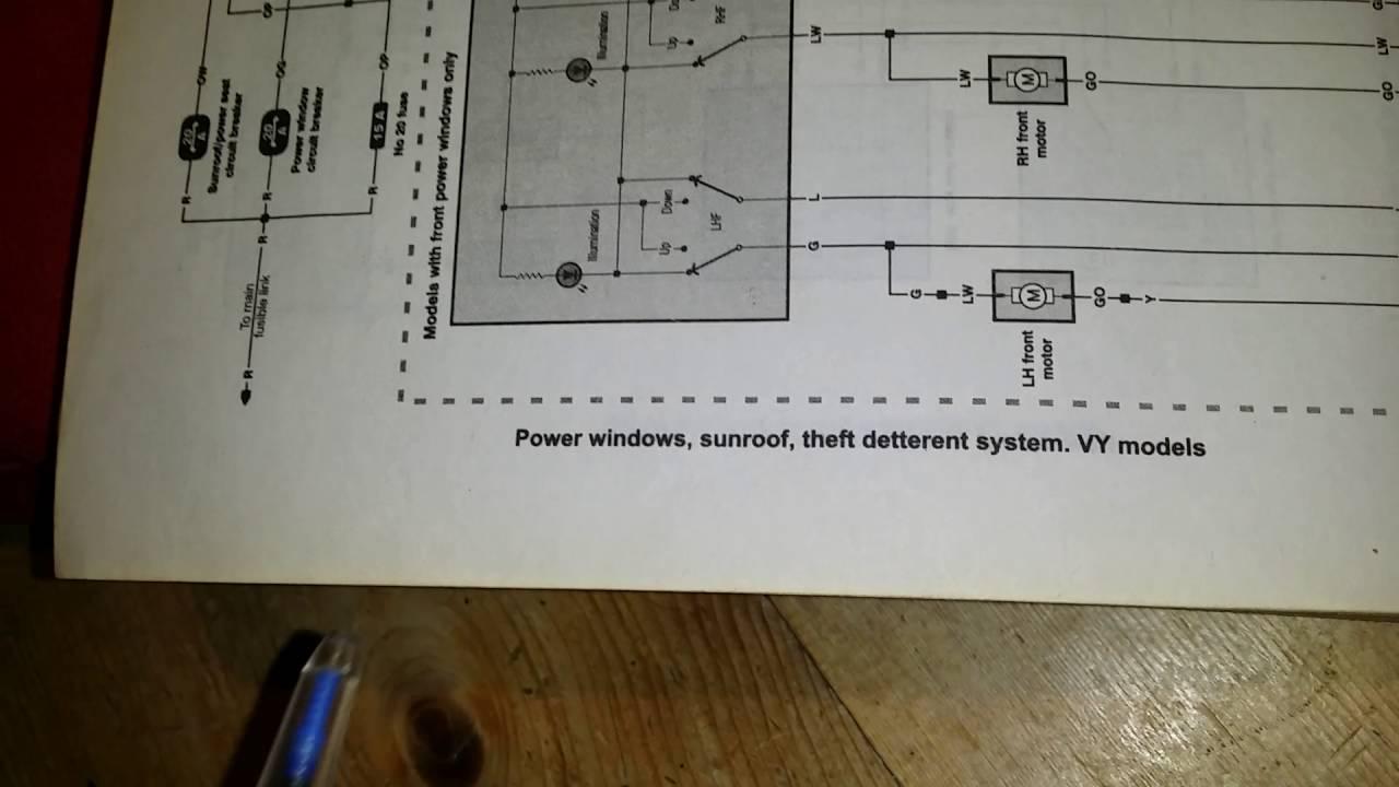 Vt Commodore Electric Window Diagram  Somurich