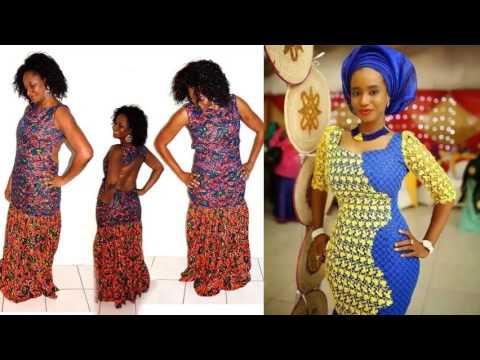 Long African Trendy Dresses | African Fashion Wear And Cloths Set Of ...