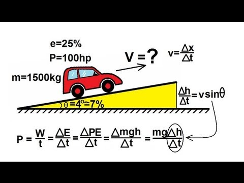 Physics - Mechanics: Work, Energy, and Power (16 of 20) Driving Up A Hill