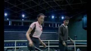 Episode 03 part 2 - Basic Footwork: Badminton Training by Zhao  and Xiao