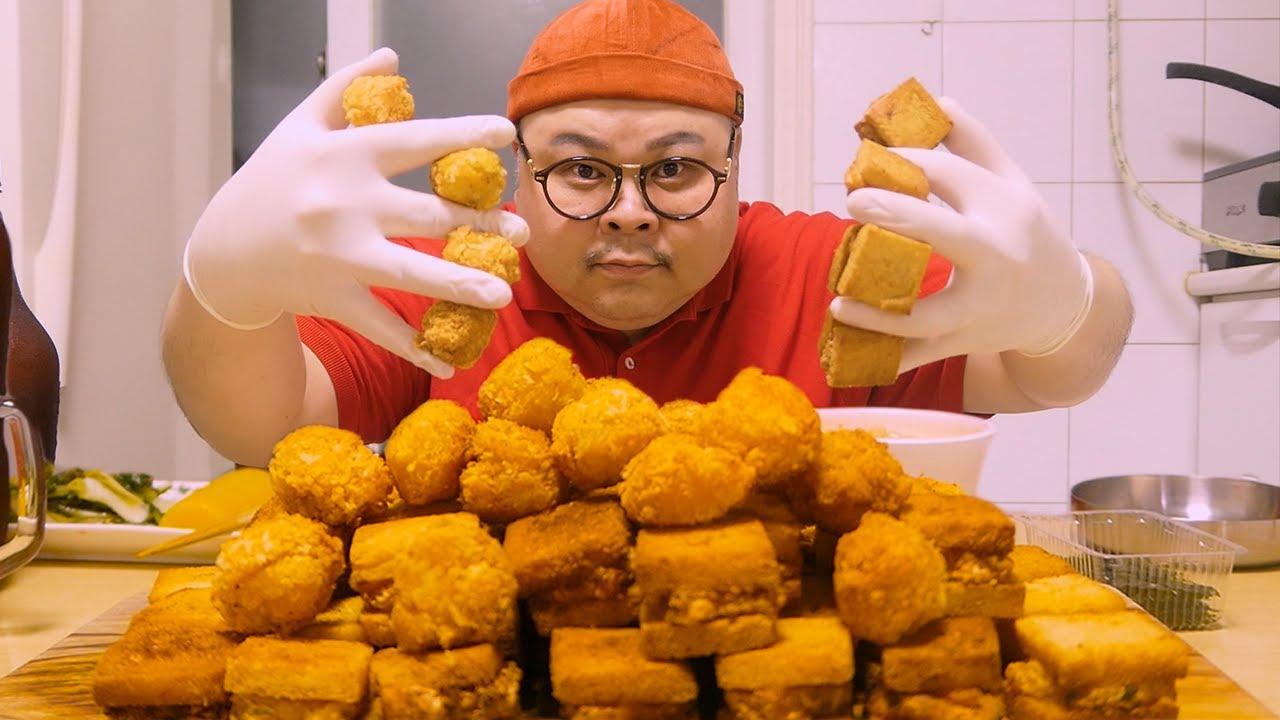 「혼밥 가이드」멘보샤ㅣ제발 사서드세요ㅜ입천장은 다까짐ㅜ😂Mukbang Eatingshow [MianBao Xia, Shrimp ball, Cup noodles ]