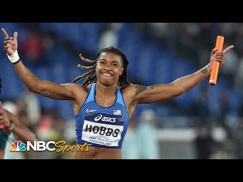 USA women hang on to win 4×100 relay in Yokohama | NBC Sports