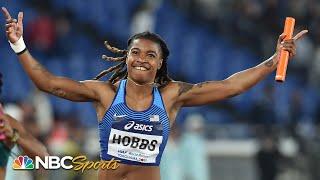 USA women hang on to win 4x100 relay in Yokohama | NBC Sports