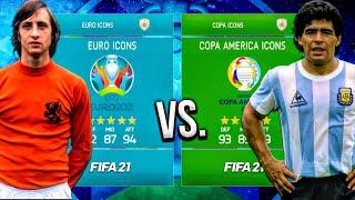 Copa America ICONS vs. Euro ICONS! - FIFA 21 Career Mode (CLASSIC MOD IS BACK! 🔥)