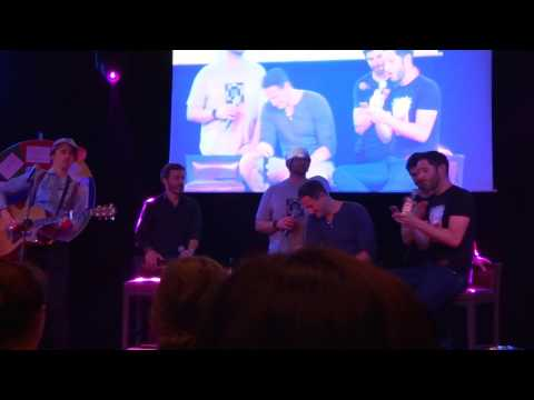 Jbland 2   Singing Hallelujah  Jason, Rob, Reeve Carney, Sasha Roiz, Tom Ellis and D