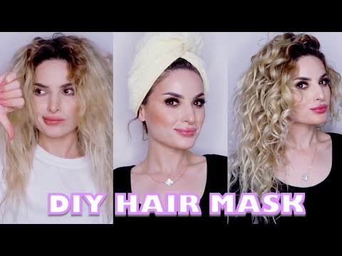 DIY HAIR MASK FOR DRY AND SHINELESS  HAIR