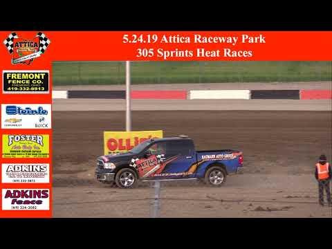 5.24.19 Attica Raceway Park 305 Sprints Heat Races