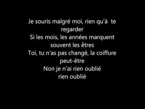 Charles Aznavour - Je n'ai rien oublie Paroles #BestLyricsLive