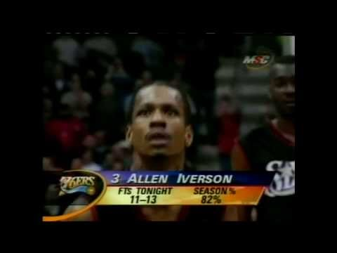 Allen Iverson Season 2000/2001 49 Pts vs. Ray Allen and Glenn Robinson. 76ers vs. Bucks