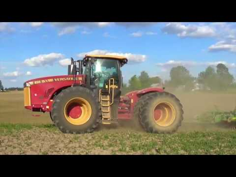 New Versatile 450 Tractor pulling a Great Plains Turbo Max