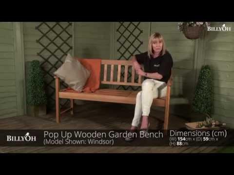 BillyOh Windsor Pop Up Wooden Garden Bench