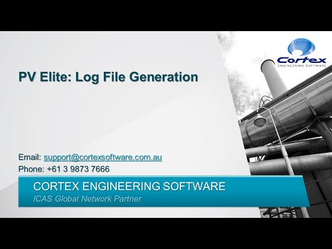 PV Elite: Generating a Log File