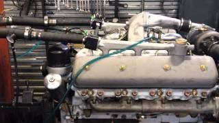 Испытание двигателя ЯМЗ 238 НД3 под нагрузкой на стенде