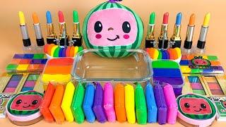 Rainbow CoComelon   Mixing Makeup,Eyeshadow,Glitter,Clay Into Slime💝Satisfying Slime Video #ASMR