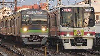 京王7000系、8000系、9000系、東京都10-300形@京王線 下高井戸駅付近