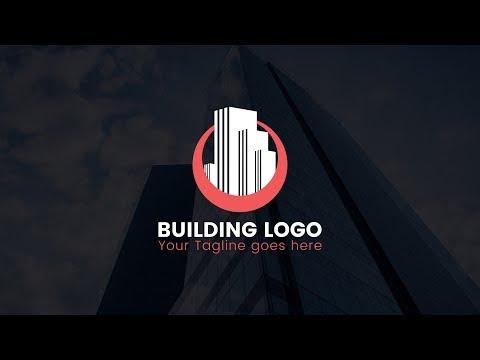 How TO Design Building / Real Estate Logo - Illustrator Tutorial