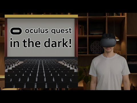How to Watch Movies in The Dark on Oculus QUEST, Virtual Reality / VR, Lights Out Mode! Tutorial