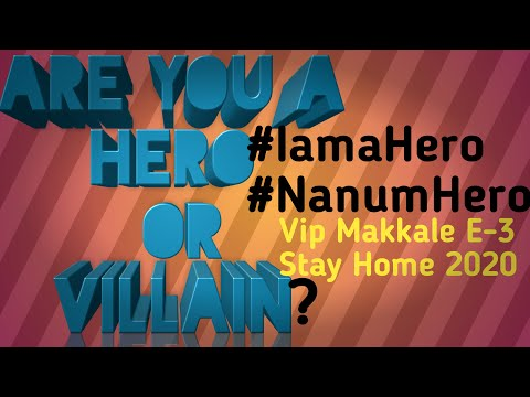 Fight Against Corona | Are You a Hero Or Villain | Prove To Be A Hero| Stay Home |Vip Makkale