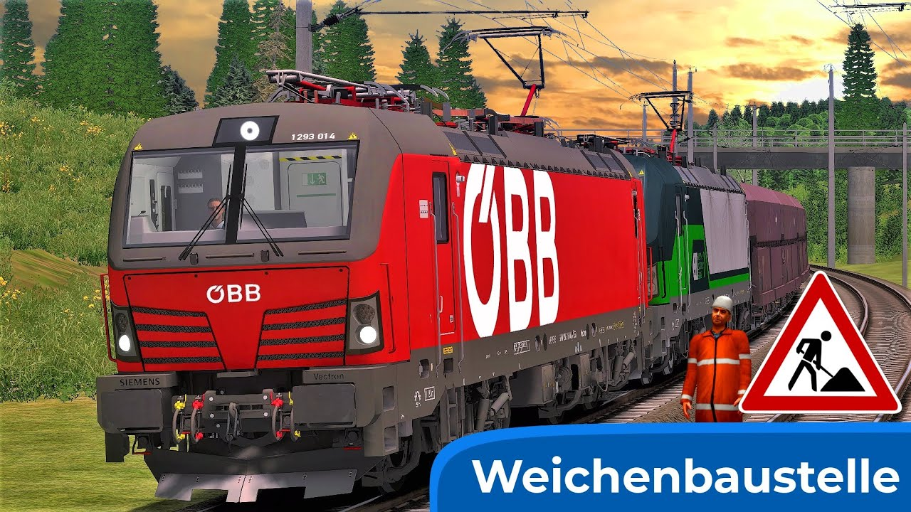 BAUSTELLE   Salzburg - Wels & RSSLO Wagenpack 2   TRAIN SIMULATOR 2020   ÖBB 1293 – ELL Vectron