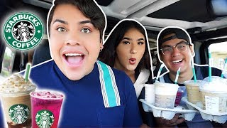 Letting YOUTUBERS Pick My STARBUCKS DRINKS!