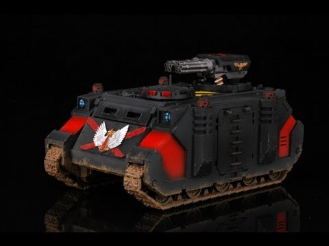 How to paint Death Company Razorback? Warhammer 40k Blood Angels Buypainted painting tutorial