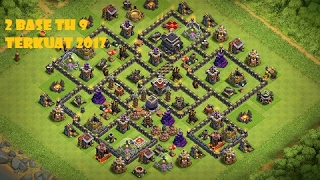 2 BASE FARMING TH 9 TERBAIK DAN TERKUAT 2017 #CLASH OF CLANS INDONESIA