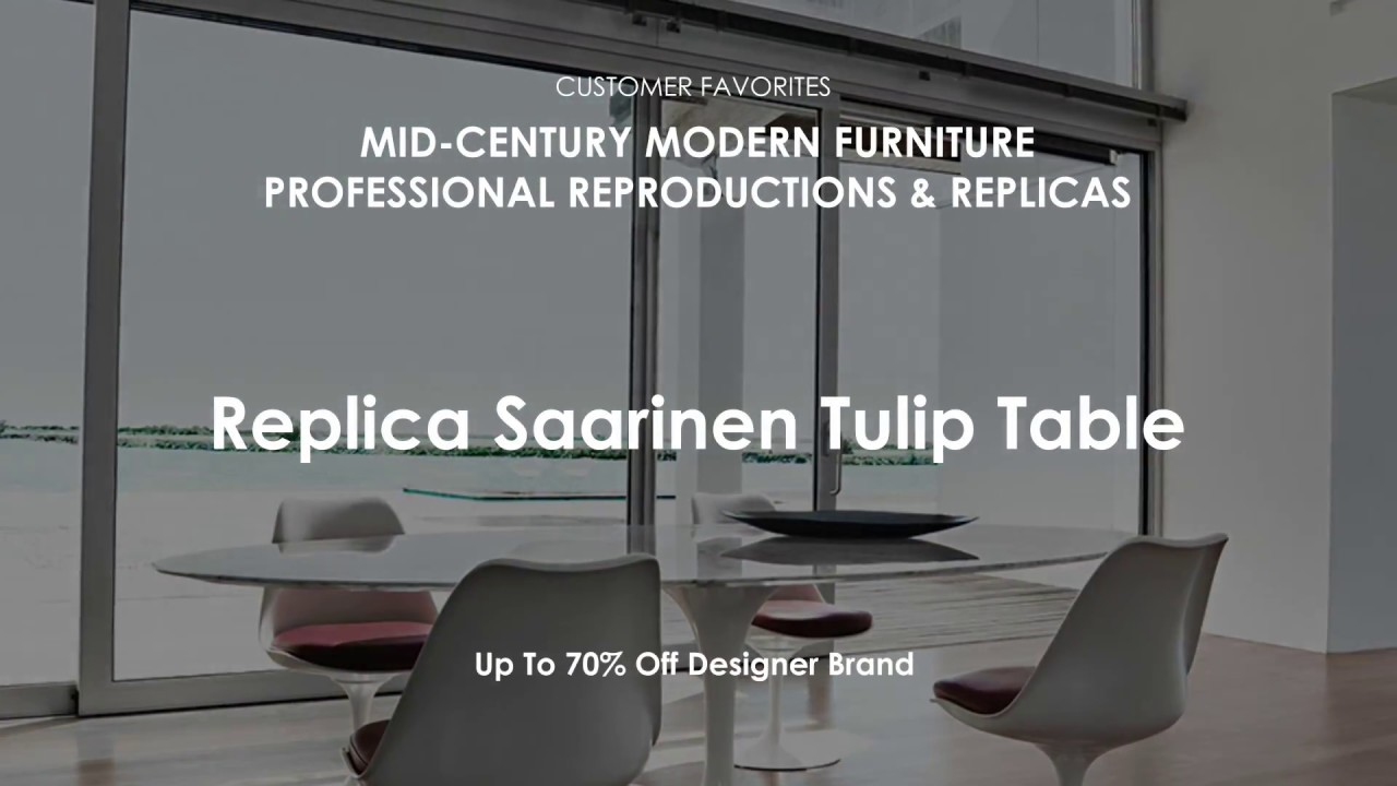 Mid Century Modern Furniture Replica Saarinen Dining Table - Tulip table and chairs reproduction