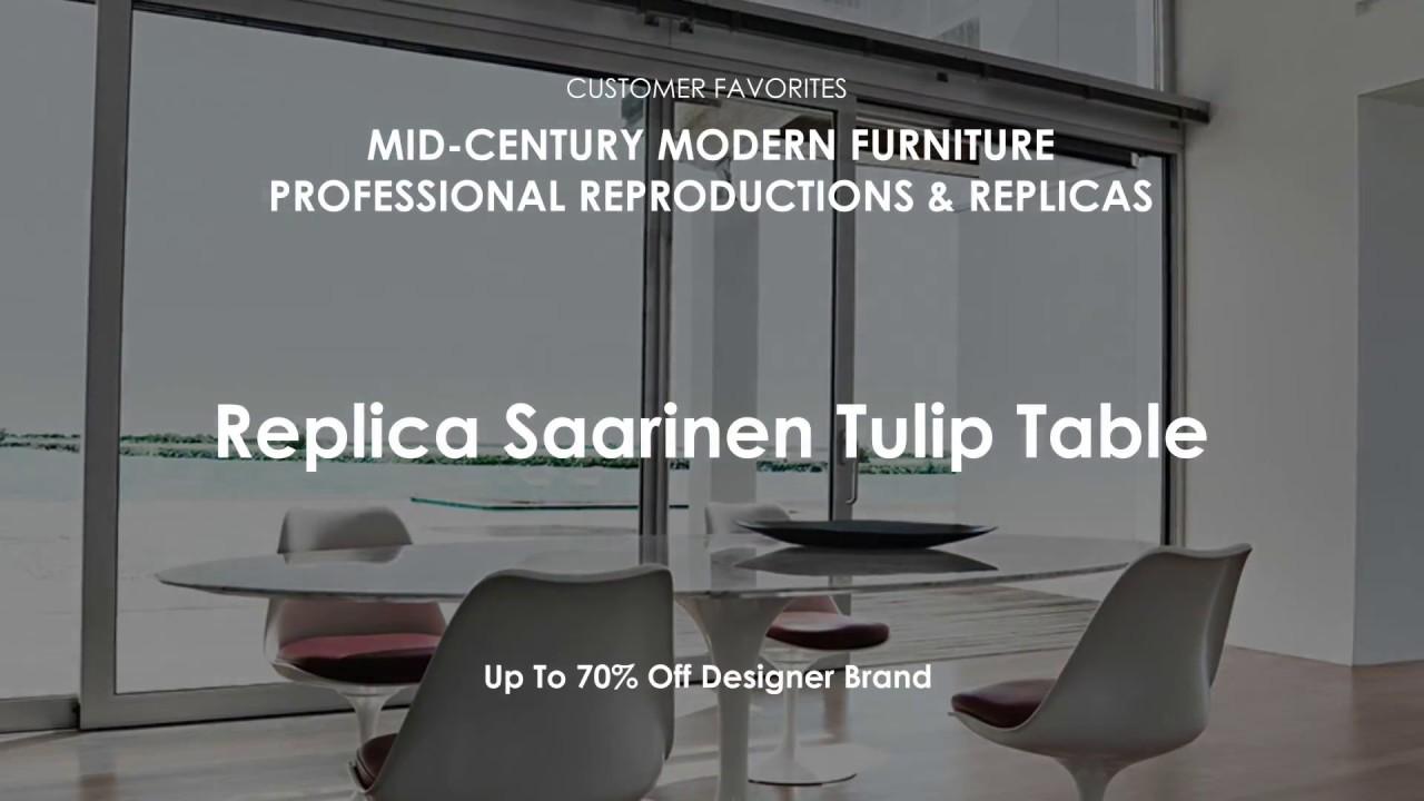 Mid Century Modern Furniture Replica Saarinen Dining Table Reproduction