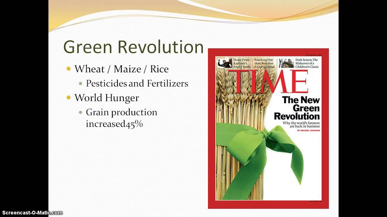 the major advances witnessed during the green revolution Global regents review packet 14 the commercial revolution helped lead to the industrial revolution because during the green revolution.