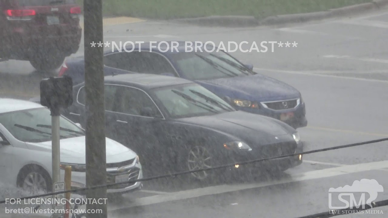 6-10-19 Fort Walton Beach, Florida Afternoon Storm - Heavy Rain - Heavy Traffic