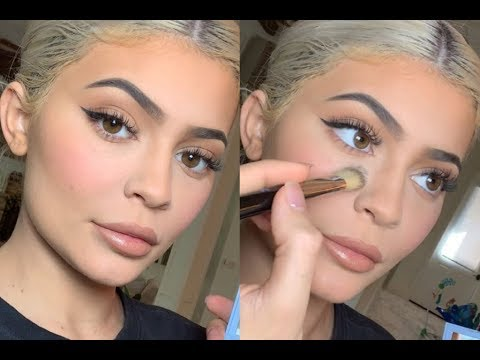 Kylie Jenner | Flawless Foundation Routine With Perfecting Powder | Fresh Everyday Natural Makeup thumbnail