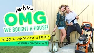 Anniversary Al Fresco! | OMG We Bought A House!