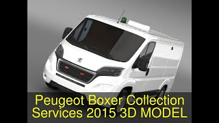 3D Model of Peugeot Boxer Collection Services 2015 Review