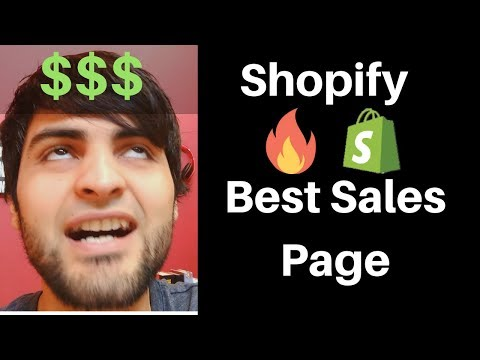 What Is The Highest Converting Shopify Sales Page?