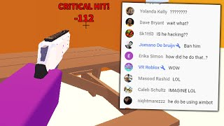 So I trolled an entire live stream.. (Roblox Arsenal)