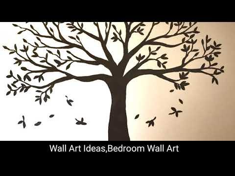 100+ Easy Diy Wall Art & Wall Decor For Living Room | Tree Wall Decal | #2019